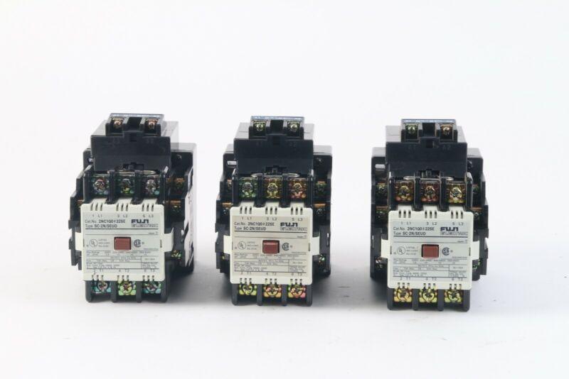 Fuji Electric SC-2N/SEUD Contactors 2NC1QO#22SE (Lot of 3)