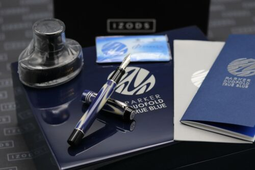 Parker Duofold Limited Edition True Blue Fountain Pen - UNUSED