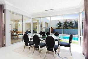 DISPLAY FURNITURE Glass Dining Table & Chairs Osborne Park Stirling Area Preview