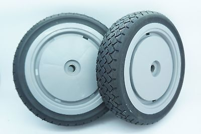 GENUINE OEM TORO PART #98-7130 WHEELS; (QTY. 2) TORO SUPER RECYCLER FRONT -