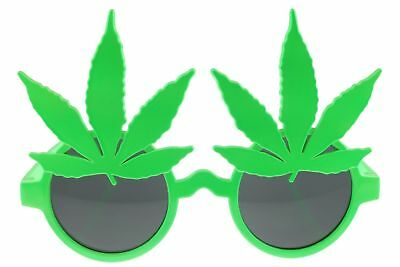 420 Marijuana Pot Glasses Sunglasses Leaf Party Novelty Fluorescent Green (Fluorescent Sunglasses)
