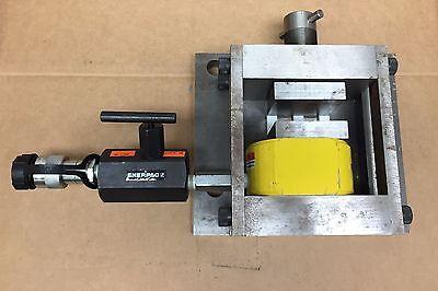Enerpac Rsm300 30 Ton 12 Inch Stroke Hydraulic Cylinder Mounted In Press