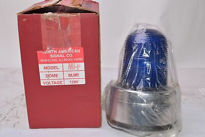 New North American Signal Co Mip-acb Blue Visual Signal Light - 120v 60 Hz