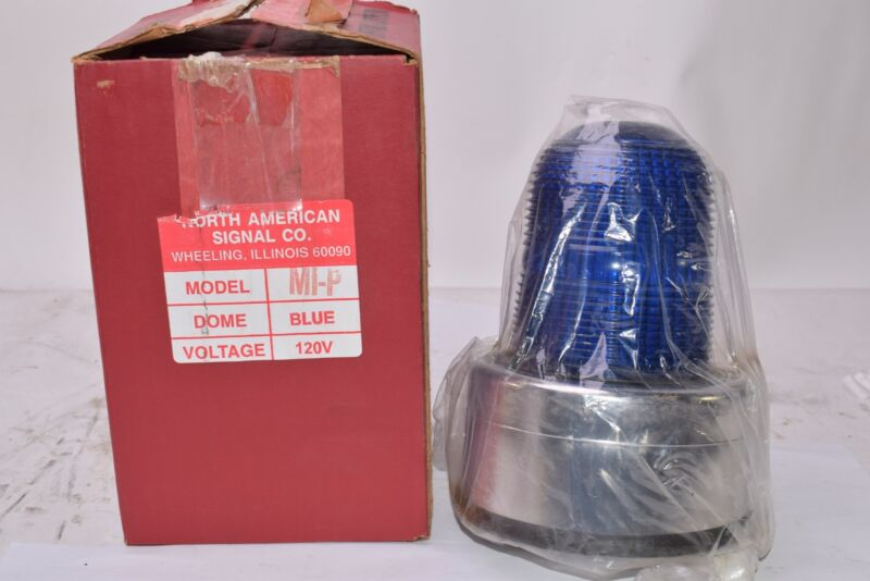 NEW North American Signal Co MIP-ACB Blue Visual Signal Light - 120V, 60 Hz