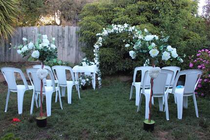 Wedding arch chairs and  roses for hire