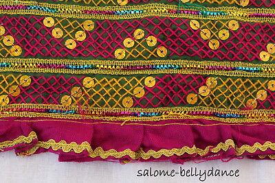 Kuchi Nomaden Stoff, Bestickter Stoff, Borte, Ethnostoff, Tribal - Baumwolle Bestickt Kostüme