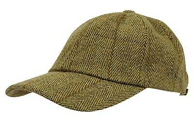 Mens Tweed Baseball Cap Teflon Coated Derby Wool Waterproof New Fishing Hunting