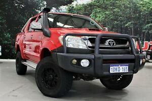 2010 Toyota Hilux KUN26R 09 Upgrade SR5 (4x4) Red 5 Speed Manual Dual Cab Pick-up