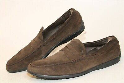 Tod's Mens Size UK 10 US 10.5 Suede Driving Loafers Italy Made Shoes