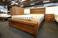 Library Solid Hardwood Queen/King Size Bed Frame Nunawading Whitehorse Area Preview