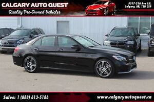 2016 Mercedes-Benz C-Class C450 AMG PKG/AWD/NAVI/B.CAM/LEATHER/R