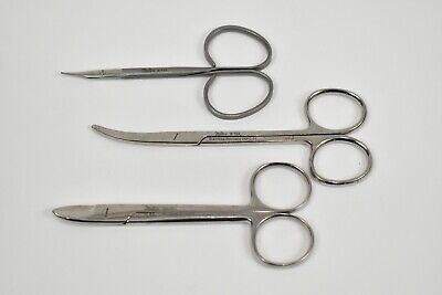 Set Of 3 Miltex Medical Surgical Scissors Reeth Northbent Stitch Wire Cutter