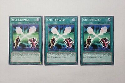 3x Soul Exchange Yugioh Spell Cards The Best Magic Bundle Set A Good Online