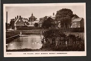 Market-Harborough-Great-Bowden-real-photographic-postcard