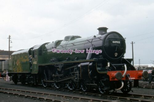pu2754 - Lancs - Engine No.44932 at Carnforth Shed, c1974 - photograph 6x4