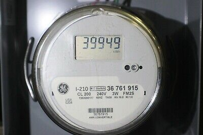 General Electric Ge Lcd Watthour Meter Kwh Model I-210n Cl200a Single Phase