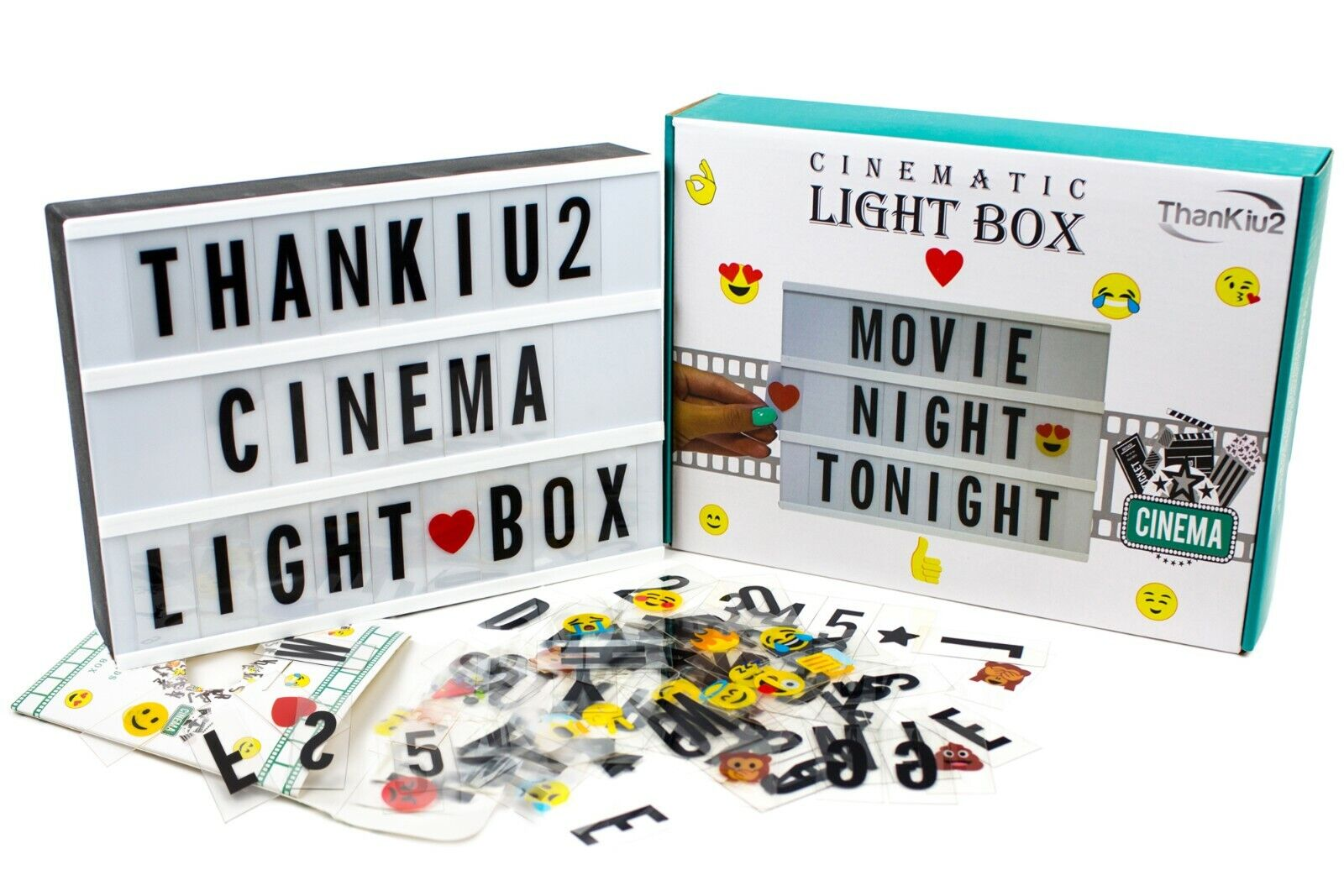 Cinema Light Box with Letters - Vintage Cinematic Light Up M