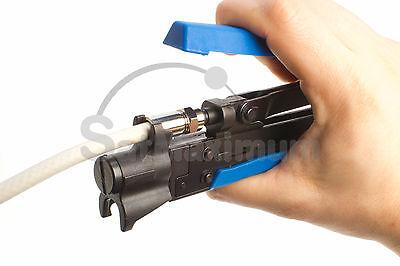 Compression Tool RG59 RG6 RG11 F Connector Adjustable Crimper CATV Coaxial Cable