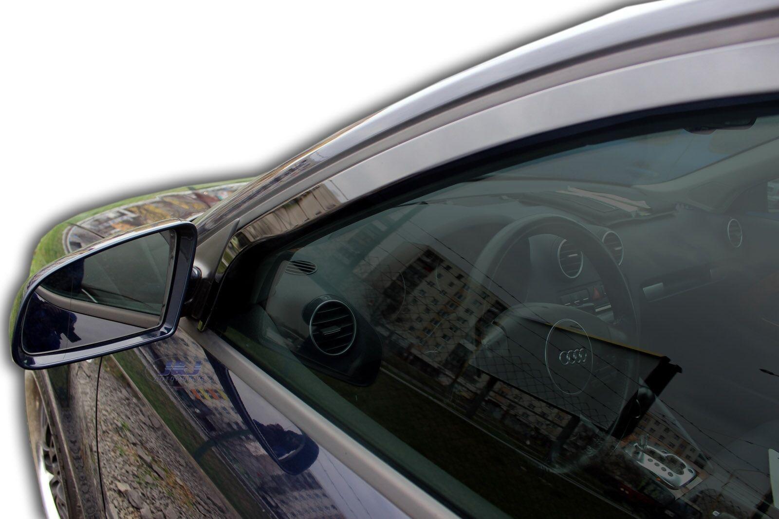 DEFLETTORE PER ARIA E PIOGGIA PROTEZIONE ANTIVENTO PER FINESTRINO AUTO BARRA PER VETRO DEFLETTORI DARIA ANTERIORE PARAVENTO FUME 19.225 COMPATIBILE CON Audi A3 3P 03-12