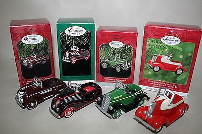 Hallmark Steelcraft Car Lot of 4 Club Ornaments Garton Auburn Murray Airflow