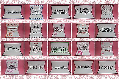 Brother ScanNCut Sentiments popup insert & card templates CD1016