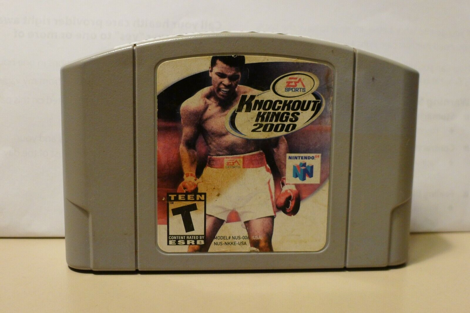 Knockout Kings 2000 Nintendo 64, 2000 N64 CLEANED, TESTED, WORKS GREAT  - $2.99
