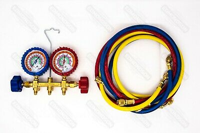 Imperial 421-c 400 Series Deluxe 2-valve Manifold W Hoses R-410a R-22 R-404a