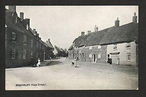 Adderbury - High Street - printed postcard