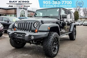 2013 Jeep WRANGLER UNLIMITED 4X4, DUAL TOP, NAV, TRAILER TOW, MA