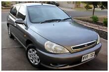 2002 Kia Rio Hatchback - Manual, Gun Metal Grey, Fuel Efficient Paralowie Salisbury Area Preview