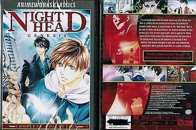 Night Head Genesis Complete Collection New Anime Dvd Box Set