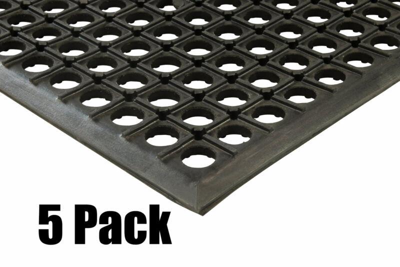 "(5) Erie Tools 2x3 Rubber Drainage Floor Mat 24"" x 36"" Anti-Fatigue Anti-slip"