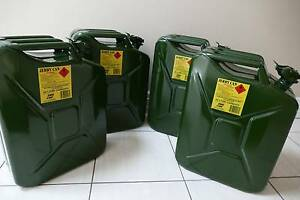 4 x Original 20ltr Jerry Can Fuel Tank Williamstown Hobsons Bay Area Preview