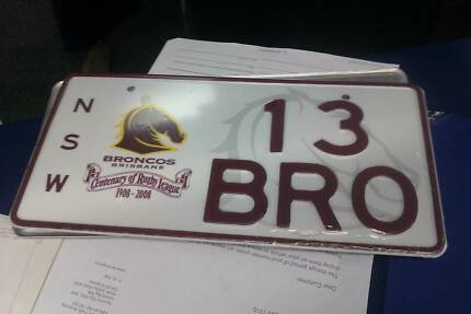13BRO - Cententary of Rugby League Licence Plate Carlingford The Hills District Preview