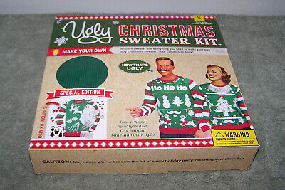 DIY Ugly Christmas Sweater Kit Make Your Own Sz MEDIUM Green UNISEX](Ugly Sweater Kits)