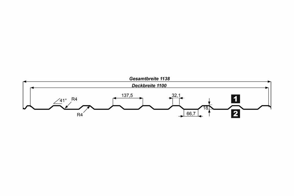 Trapezblech 1.Wahl Profilblech Dachblech Wellblech Überdachung in Heinsberg
