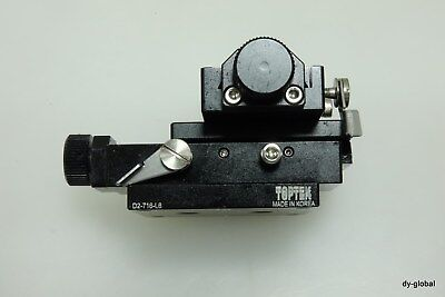 Toptek Xy Manual Precision Positioner By Screw Used D2-716-l6 Sta-i-2015f31