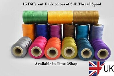 15 Dark 100% Silk Thread spools best for embroidery and Sewing Machine (Best Sewing Machine For Apparel)