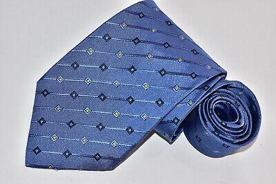 Men's Ike Behar New York Blue 100%Silk  Neck Tie made in USA