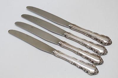 4 Reed & Barton Dresden Rose Silverplate Flatware Dinner Knives Barton Dresden Rose