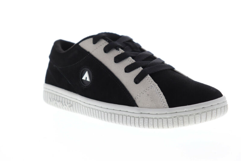 Airwalk Random AW19861-001 Mens Black Suede Surf Low Top Skate Sneakers Shoes