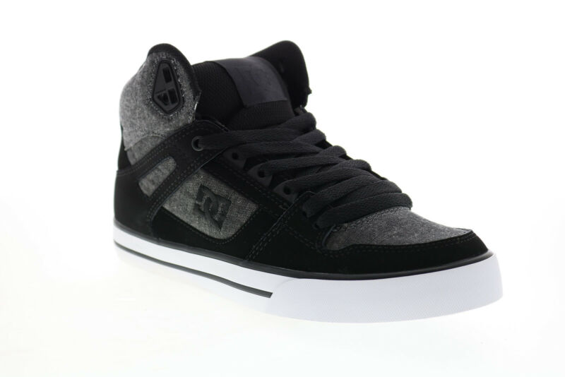 DC Pure High-Top Wc ADYS400043 Mens Gray Skate Inspired Sneakers Shoes