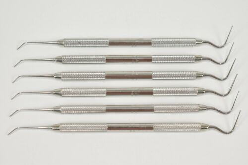 Dental Calcium Hydroxide Placement Instruments H-Friedy PICH #41 Handle Set of 6