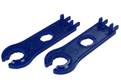 2 TEMCo PV MC4 Solar Panel Connector Spanner Pair Wrench Disconnect Tool Set