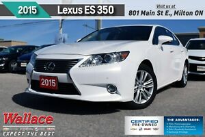 2015 Lexus ES 350 SUNROOF/HTD&CLD LTHR STS/HTD WHL/REAR CAM/7 SC
