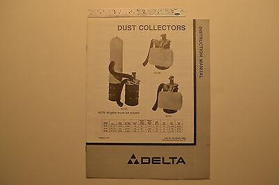 J95 Delta Dust Collectors Instruction Manual 1987 - 50-180 50-181 50-182