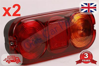 2x For Jcb 3cx Parts Rear Light Unit Complete 4cx Side Indicator Lamp Lens