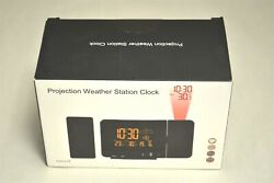 Digital Weather Station Alarm Clock with Projection
