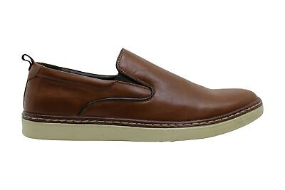 Alfani Mens ronnie Leather Round Toe Slip On Shoes, Dark TAN, Size 10.5 FdTq