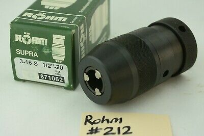 New 58 Rohm Germany Supra Keyless Drill Chuck Machine Tool 12 - 20 Threaded